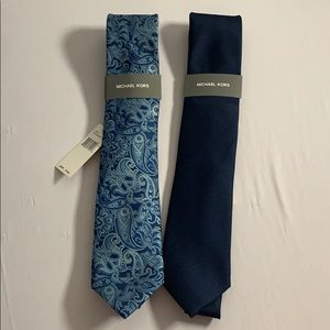 Blue Michael Kors Tie Set